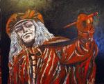 Pintor óleo dm122 x 100 cms