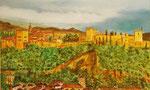 Vista Alhambra.óleo dm 100 x 60.VENDIDO