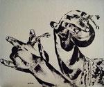 Castañuelas-I Esmalte lienzo .55x46