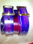 Double Wristband, Johnny Depp, Leather, Hand-made to your colour spec