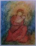 Maria mit Kind - Aquarell