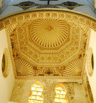 erhaltene Deckengestaltung in der Synagoge