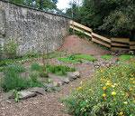 Burggarten mit Kräuterbeeten