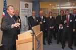 Landrat Gall berichtete beim Neujahrsempfang der Steuben-Schurz-Gesellschaft über die Kontakte mit Loudoun.