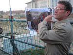 Roger Gerber erläuterte auf dem Wiesbaden Army Airfield die Ausbaupläne.