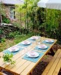 Gite de liou - Cévennes - Une grande table pour manger dehors