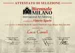 """Luca Cameli - Selezionato dalla """"Biennale di Milano 2019"""" presentata da Vittorio Sgarbi."""