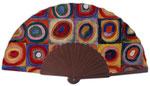 Artikel Nr. 8618 Farbstudie Quadrate - Kandinsky (Mahagoni/Holz)