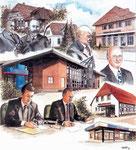 Kartenillustration Volksbank Lemförde/Lübbecker Land (Aquarell)