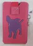 Leder: pink Motiv: Chihuahua (lila)