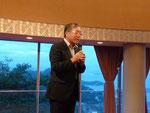 腹ごしらえもできたところで、渡辺裕先生のスピーチ。