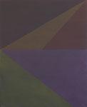 Antje Blumenstein, four lines 02, 2014, Öl auf Leinwand, 100 x 81 cm