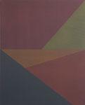 Antje Blumenstein, four lines 01, 2014, Öl auf Leinwand, 100 x 81 cm