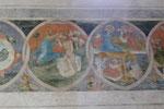 Münster, Credo-Fries, Mitte 15. Jh., Taufe Jesu, Verkündigung, Geburt