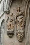 Coburg, Morizkirche, Maria mit Kind und Hl. Barbara