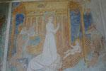 Fresko aus dem 14. Jahrhundert