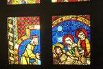Glasfenster aus dem 14. Jahrhundert im Museum