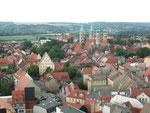 Blick vom Turm der Wenzelskirche auf den Dom und die Stadt