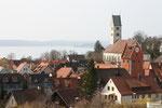 Blick vom Fürstenhäusle über Meersburg zum Bodensee