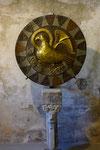 Kupferscheibe mit Adler, Symbol für den Evangelisten Johannes