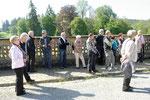 Schloss Tambach, unsere Gruppe auf der Terrasse