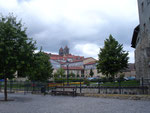 Blick auf Schloss und Dom von der Stadtmauer aus