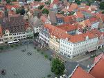 Blick vom Turm der Wenzelskirche auf den Marktplatz