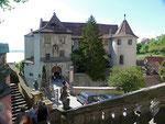 Altes Schloss von der Treppe der Gartenterrasse aus