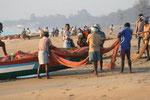Fischer am Strand von Mamallapuram