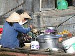 Leben auf dem Mekong-Fluß