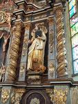 Evangelist Markus mit dem Löwen in St. Nikolai