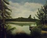 """""""Am grünen See""""  Öl auf Leinwand    60x50    2010    #10002"""