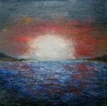 """""""Sonnenuntergang  Öl auf Leinwand  40x40  2018    #18017"""