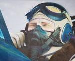"""""""Der Pilot""""  Öl auf Leinwand  90x90  2021 #21011"""