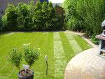 Rollrasen mit Rasenkantensteine Nachher