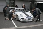 Silverstone nach dem Rennen - Spaßfoto.