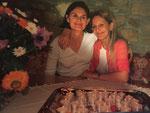 Meine Schwester Karin und ich - 80 Teelichter zum Geburtstag unserer Mutter  in der damaligen Fischerzunft/Schaffhausen