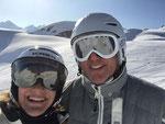 Sonne und Schnee - und das am Arlberg. Zudem fährt Pep super Ski - was will man mehr :-)