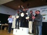 280 Männer mussten sich geschlagen geben, als Karin und ich auf das Siegertreppchen stiegen ... das Haldenhof-Bergrennen. Grandios.