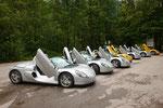 Herrlich und unvergesslich - die Renaults Spider auf Bergtouren im österreichischen Salzkammergut unterwegs.