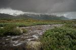 Dunkle Wolken in Jotunheimen / Mørke skyer i Jotunheimen