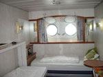 Detalle cabina exterior en Hurtigruten