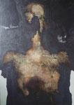Triptyque Hiroshima 3, 1966 (huile sur toile, 143 x 97 cm, coll. part. GR)
