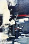 Abstraite, env. 1960 (huile sur aggloméré, 900 x 620 cm., coll. part. JPR)