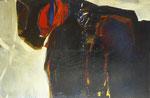 Sans titre (huile sur toile, 115 x 188cm, coll. part. GR)