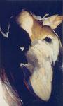 Maternité, env. 1966 (huile sur toile, 185.5 x 112 cm, coll. part. FJC)