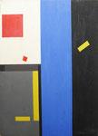 """Sans titre (huile sur carton, 50 x 65 cm, coll. part. MR) peinte recto verso avec """"Sans titre 2"""""""