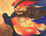 Menaces (ou l'oiseau) (huile sur toile , 124 x 92 cm, coll. part .MR)