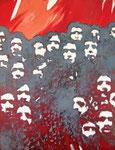 Foule mai 68, 1968 (huile sur toile, 137 x 105 cm, coll. part. JPR)
