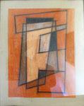 Abstraction orange, env. 1960 (craie, 65 x 50 cm. coll. part. HMC)
